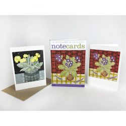 Angie Lewin Auricula with Japanese Paper and Totem with Auricula Note Cards NL111