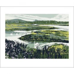 Andy Lovell Swans on Incoming Tide Greetings Card BL3032